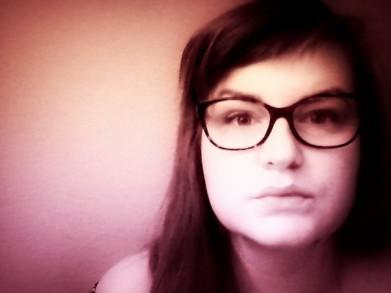 selfie, selbstportrait, girl, Brille, Pastell, brünett