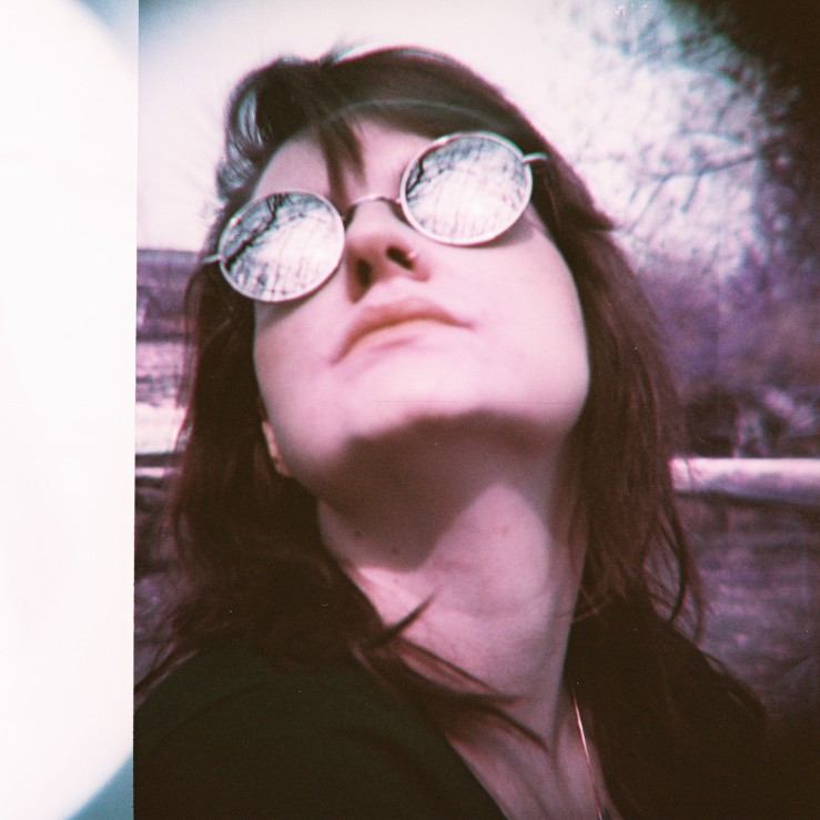 girl, frau, sonnenbrille, analog, analogue, film, foto