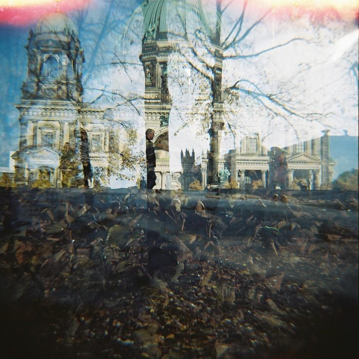 berlin, berliner dom, analog, film, doppelbelichtung, double exposure