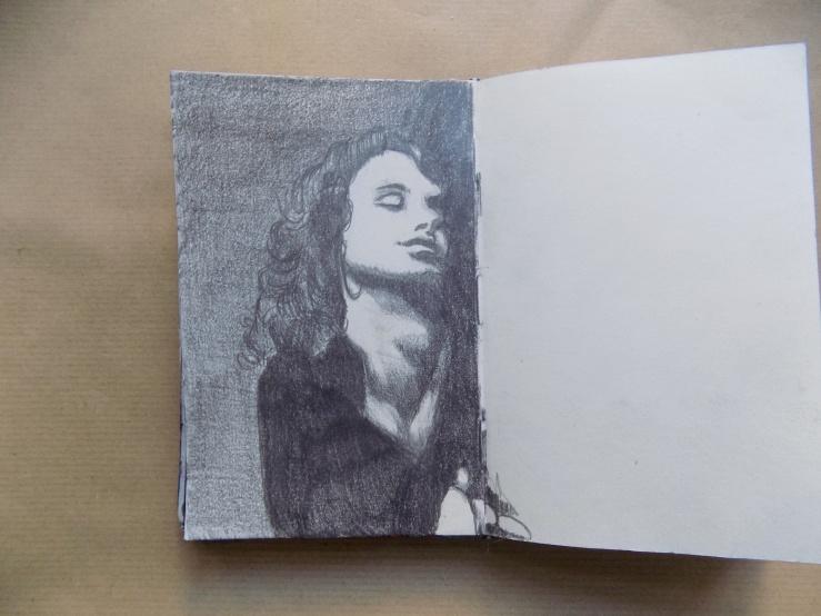Sketch, Skizze, SKetchbook, Skizzenbuch, Portrait, Jim Morrison, Hobby , Art, Kunst